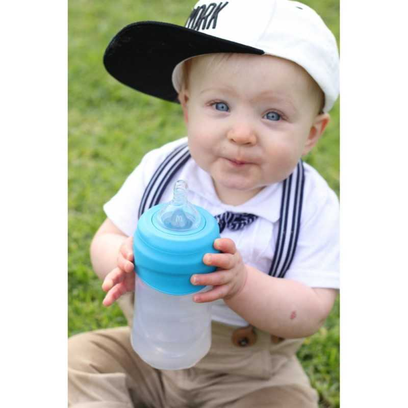 Cherub Baby Clip'N'Sip Silikoni Kansipakkaus, Sininen Cherub Baby - 3