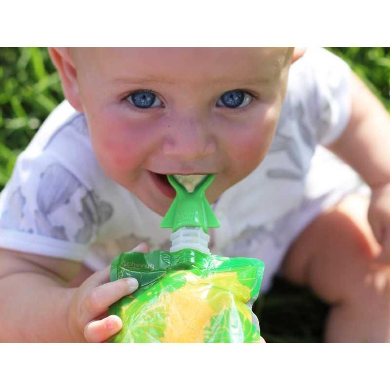 Cherub Baby Ruokapussi adapteri Lusikka 2kpl, Sininen Cherub Baby - 2