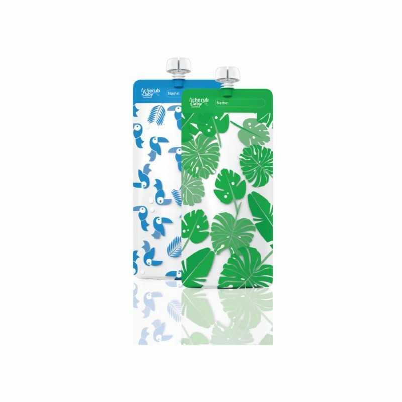 Cherub Baby Täytettävä ruokapussi Maxi 10kpl, Sininen Cherub Baby - 1