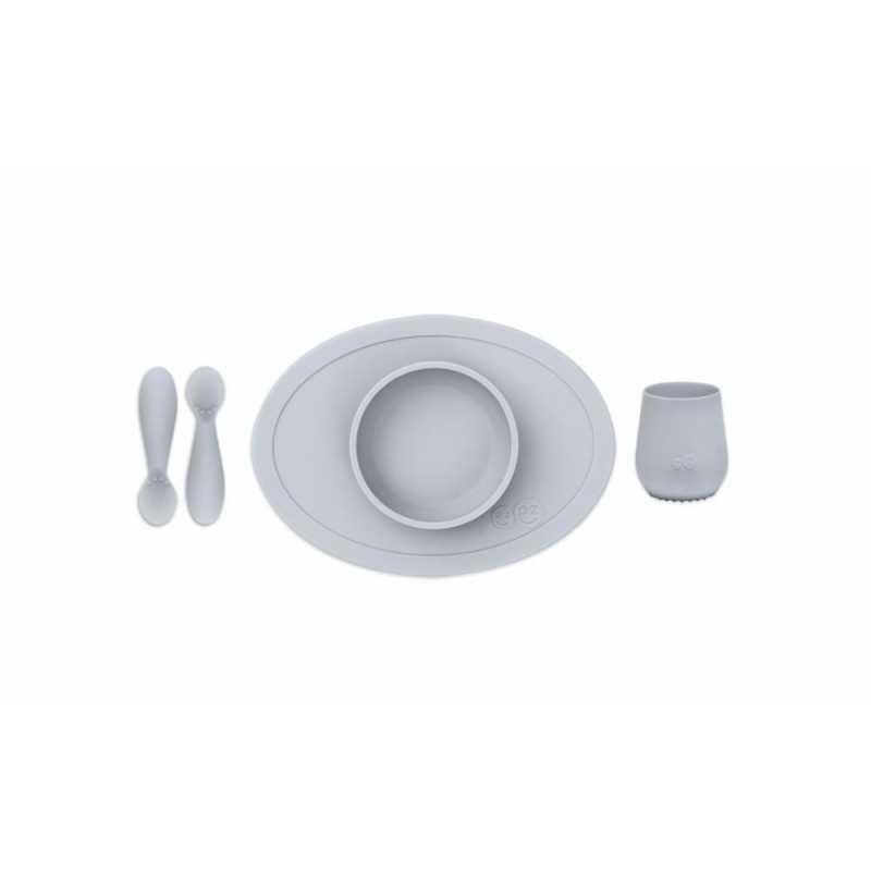 ezpz First Food Set, Pewter Ezpz - 1