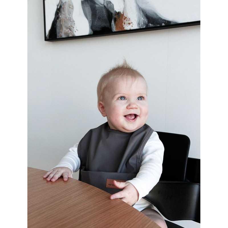 BabyWallaby Ruokalappu, Tummanharmaa Baby Wallaby - 2