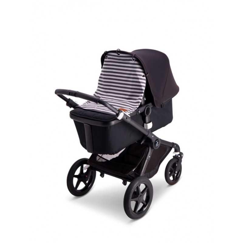 BabyWallaby Vaunuverho, Harmaaraidallinen Baby Wallaby - 2