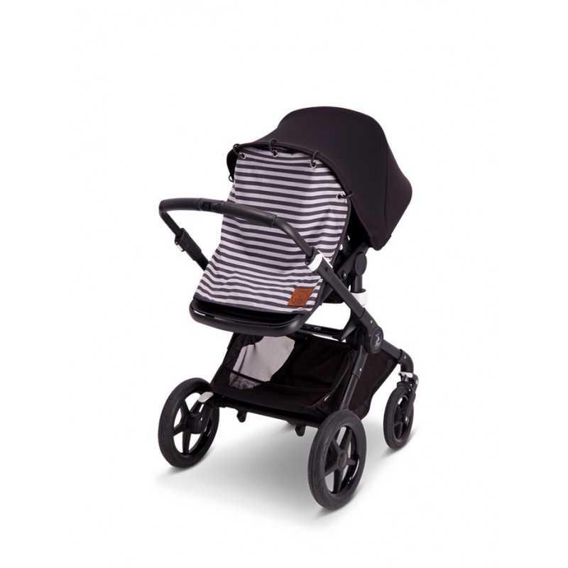 BabyWallaby Vaunuverho, Harmaaraidallinen Baby Wallaby - 3