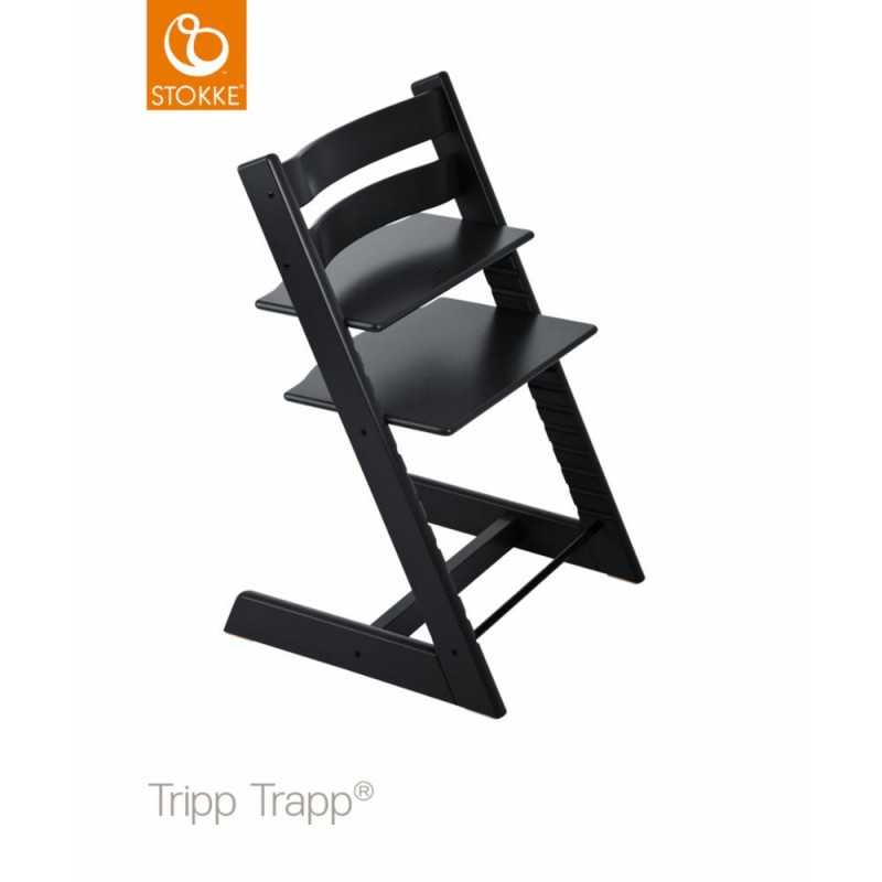 Stokke Tripp Trapp syöttätuoli, Musta Stokke - 1