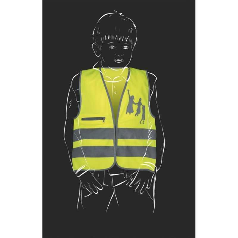 SafetyMaker Heijastinliivi 3-6v, Keltainen SafetyMaker - 3