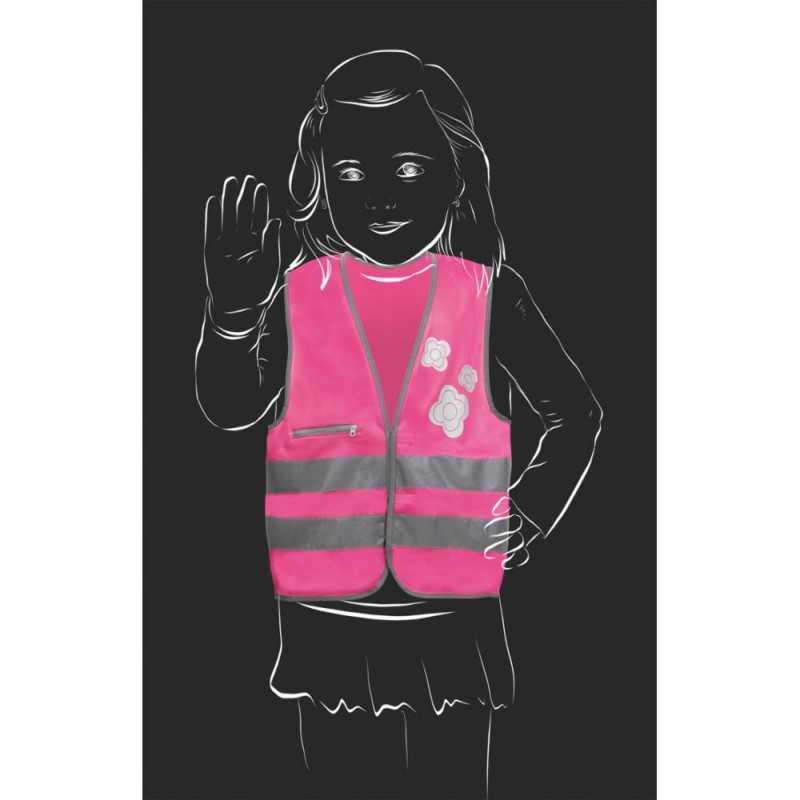 SafetyMaker Heijastinliivi 3-6v, Pinkki SafetyMaker - 3