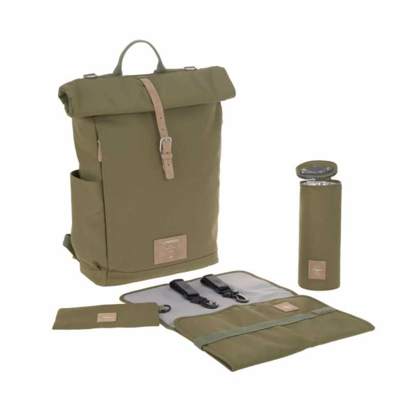 Lässig Rolltop Backpack, Olive Lässig - 2