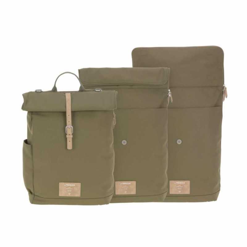 Lässig Rolltop Backpack, Olive Lässig - 5