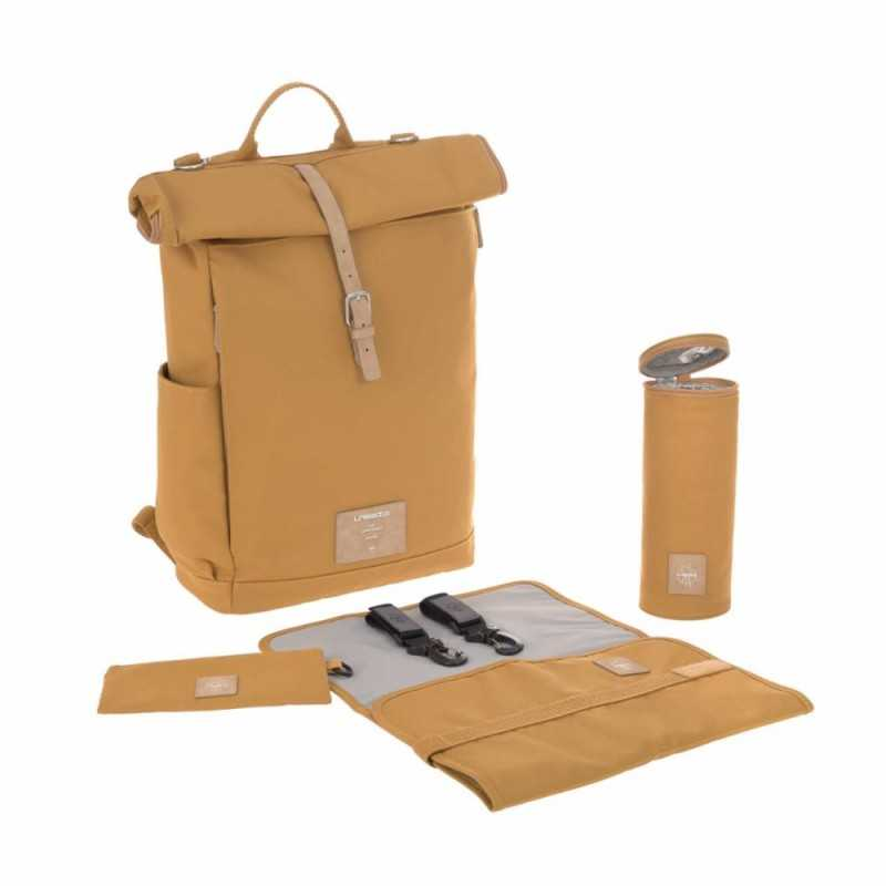 Lässig Rolltop Backpack, Curry Lässig - 2