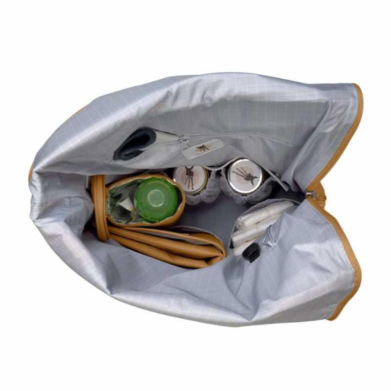 Lässig Rolltop Backpack, Curry Lässig - 3