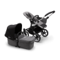 Paketti Bugaboo Donkey3 Mono yhdistelmävaunu Grey Melange - Black / Alu runko Bugaboo - 1
