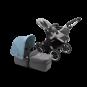 Paketti Bugaboo Donkey3 Mono yhdistelmävaunu Grey Melange - Vapor Blue/ Alu runko Bugaboo - 3