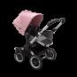 Paketti Bugaboo Donkey3 Mono yhdistelmävaunu Grey Melange - Soft Pink/ Alu runko Bugaboo - 2