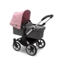 Paketti Bugaboo Donkey3 Mono yhdistelmävaunu Grey Melange - Soft Pink/ Alu runko Bugaboo - 3