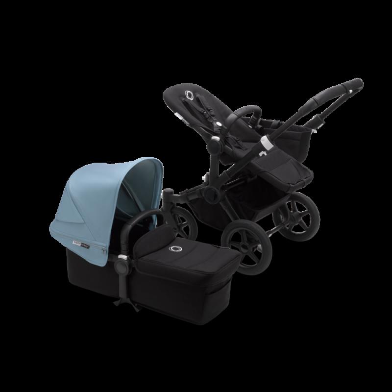 Paketti Bugaboo Donkey3 Mono yhdistelmävaunu Black - Vapor Blue/ Black runko Bugaboo - 1