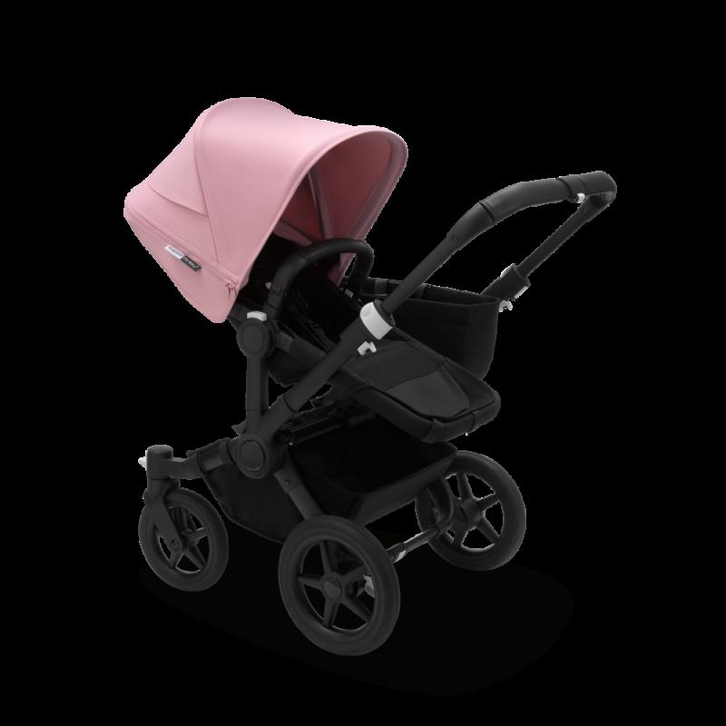 Paketti Bugaboo Donkey3 Mono yhdistelmävaunu Black - Soft Pink/ Black runko Bugaboo - 2