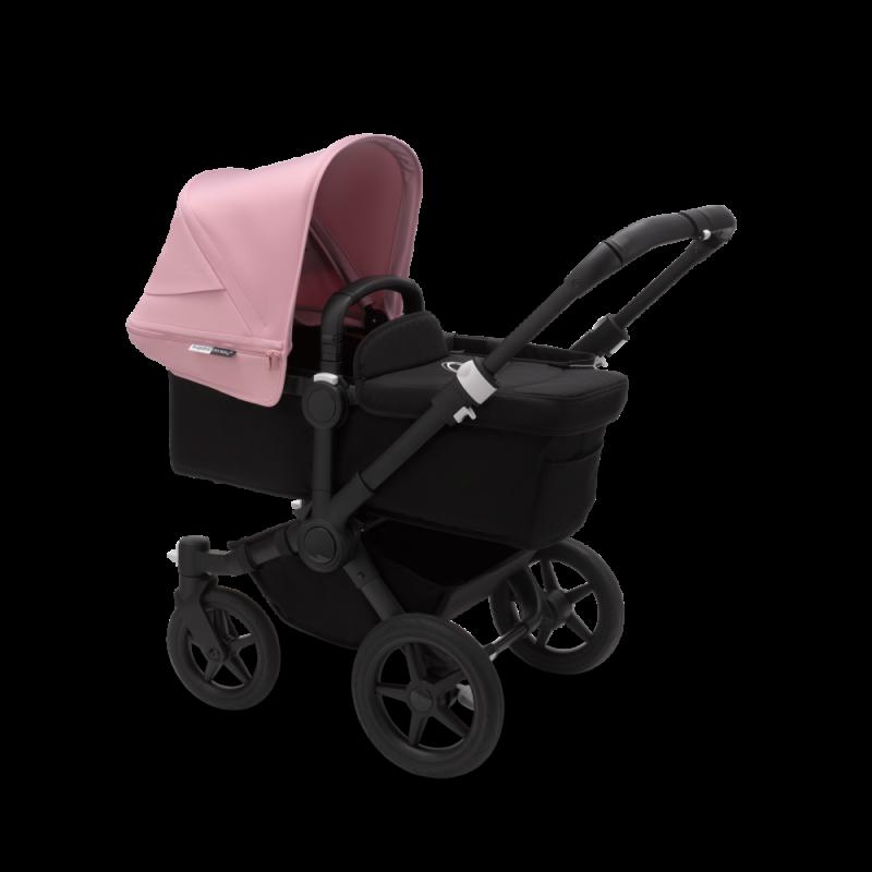 Paketti Bugaboo Donkey3 Mono yhdistelmävaunu Black - Soft Pink/ Black runko Bugaboo - 3