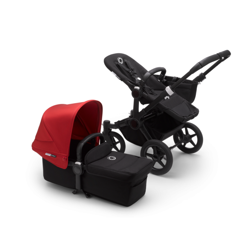 Paketti Bugaboo Donkey3 Mono yhdistelmävaunu Black - Red / Black runko Bugaboo - 1