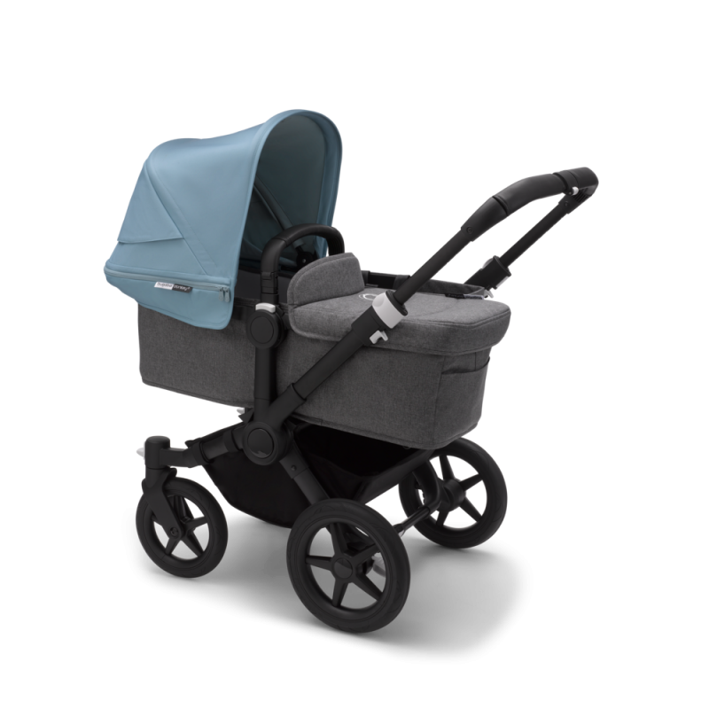 Paketti Bugaboo Donkey3 Mono yhdistelmävaunu Grey Melange - Vapor Blue/ Black runko Bugaboo - 3