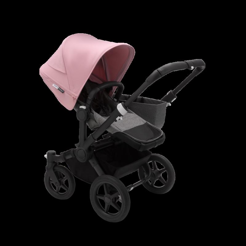 Paketti Bugaboo Donkey3 Mono yhdistelmävaunu Grey Melange - Soft Pink/ Black runko Bugaboo - 2