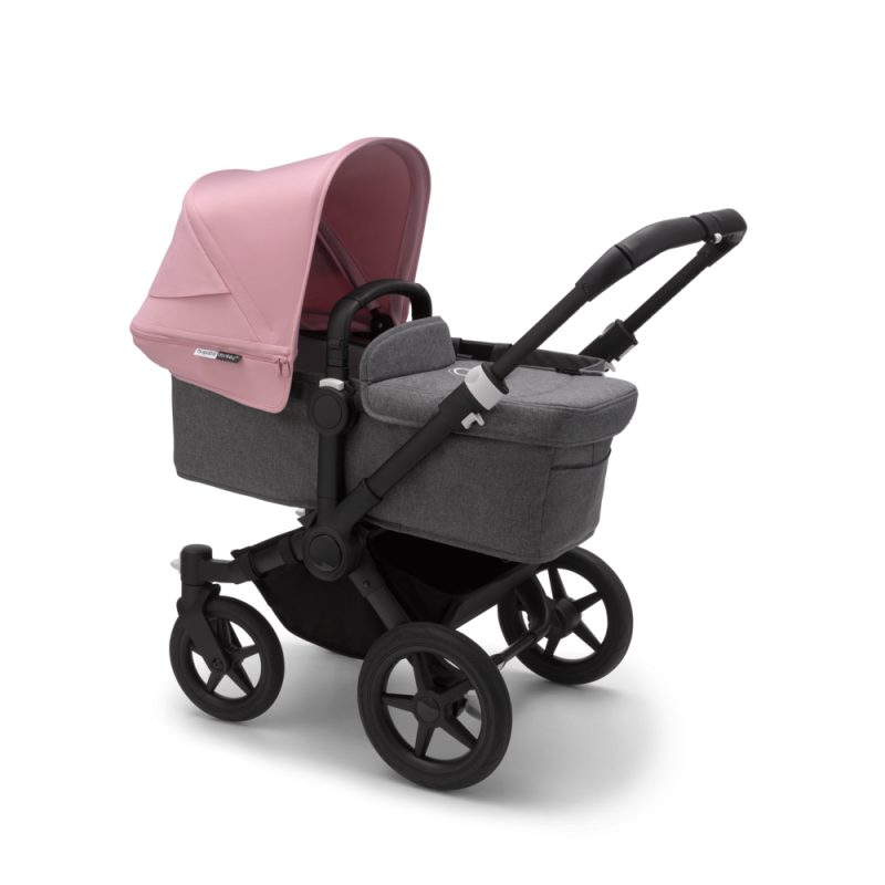Paketti Bugaboo Donkey3 Mono yhdistelmävaunu Grey Melange - Soft Pink/ Black runko Bugaboo - 3