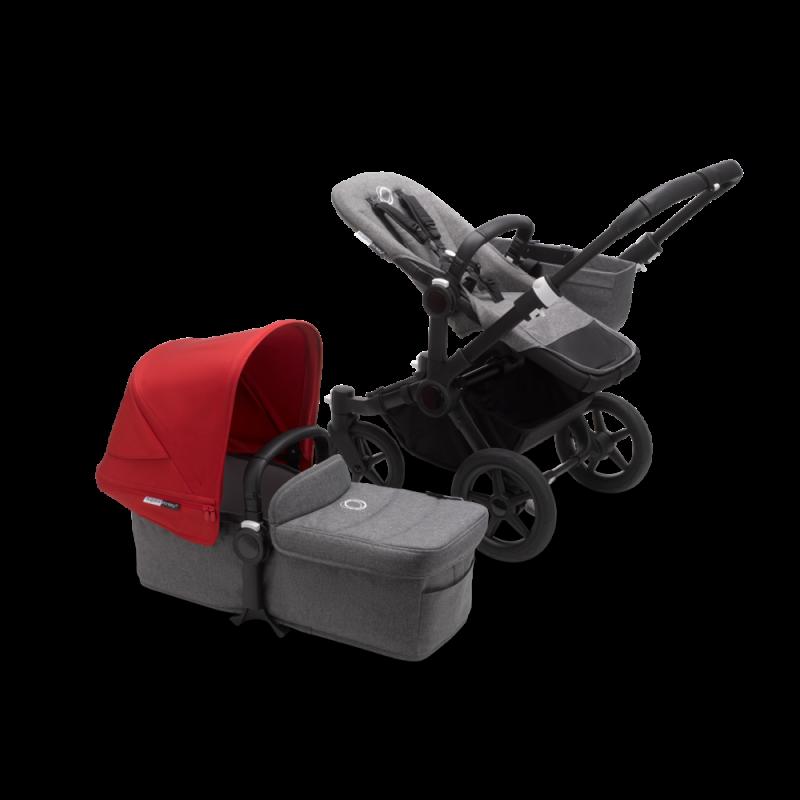 Paketti Bugaboo Donkey3 Mono yhdistelmävaunu Grey Melange - Red/ Black runko Bugaboo - 1