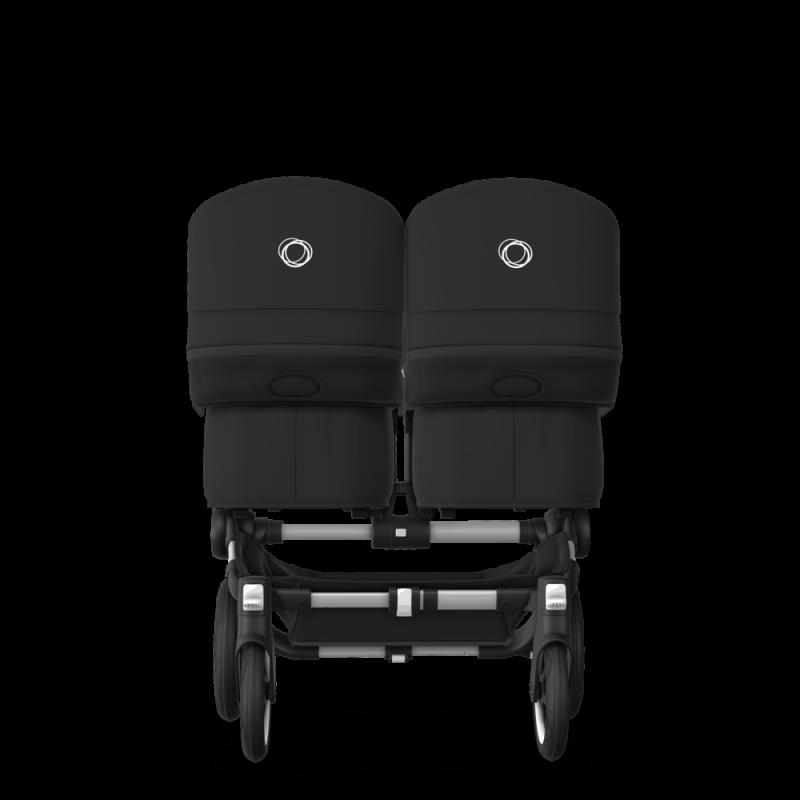 Paketti Bugaboo Donkey3 Twin kaksostenvaunu Black - Black / Alu runko Bugaboo - 3