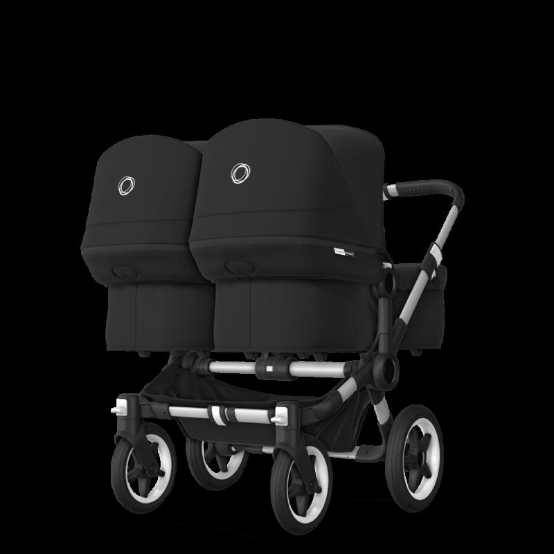 Paketti Bugaboo Donkey3 Twin kaksostenvaunu Black - Black / Alu runko Bugaboo - 4
