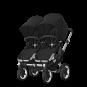 Paketti Bugaboo Donkey3 Twin kaksostenvaunu Black - Black / Alu runko Bugaboo - 7