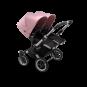 Paketti Bugaboo Donkey3 Twin kaksostenvaunu Black - Soft Pink / Alu runko Bugaboo - 2