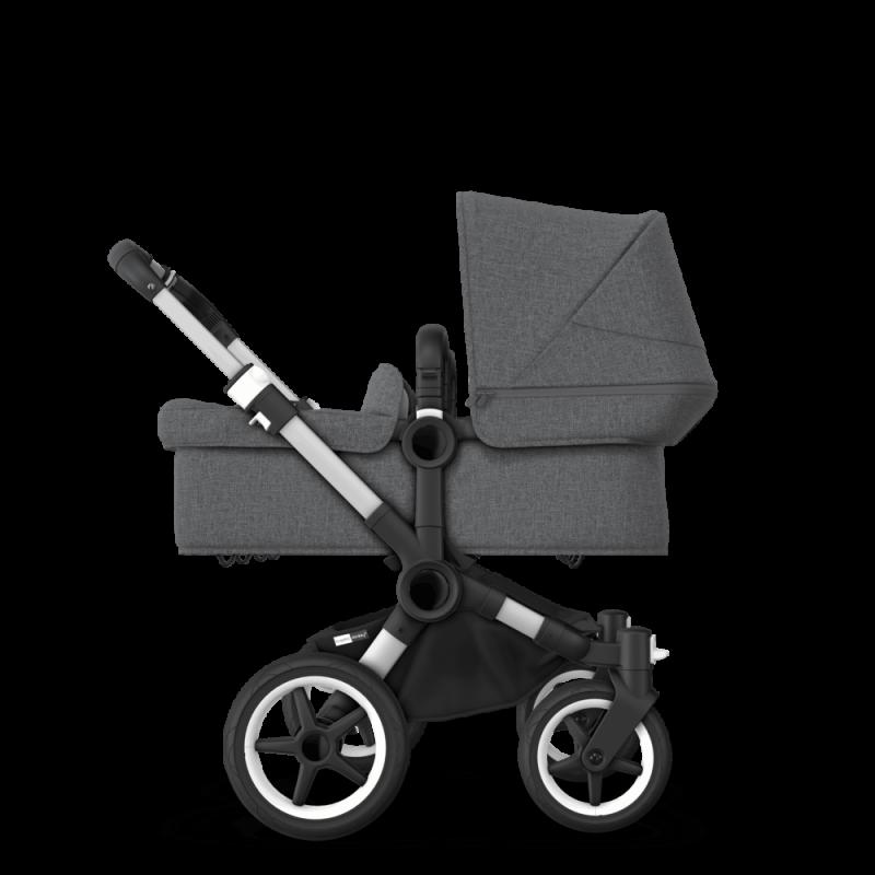 Paketti Bugaboo Donkey3 Twin kaksostenvaunu Grey Melange - Grey Melange / Alu runko Bugaboo - 2