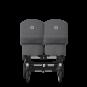 Paketti Bugaboo Donkey3 Twin kaksostenvaunu Grey Melange - Grey Melange / Alu runko Bugaboo - 3