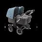 Paketti Bugaboo Donkey3 Twin kaksostenvaunu Grey Melange - Vapor Blue / Alu runko Bugaboo - 3