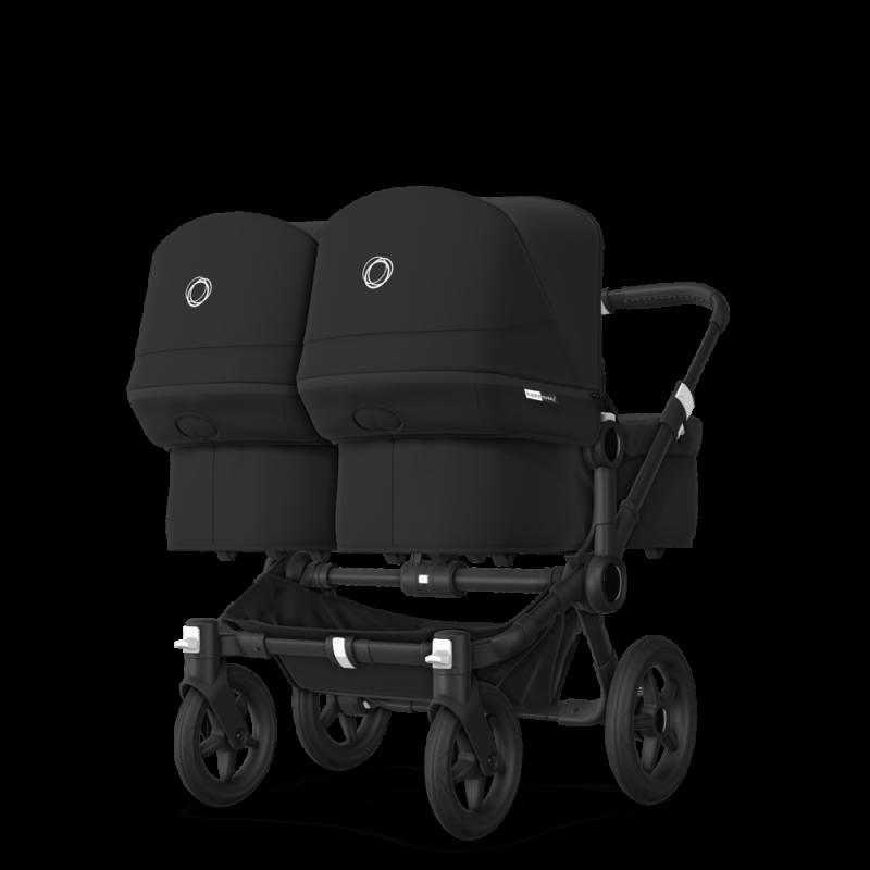 Paketti Bugaboo Donkey3 Twin kaksostenvaunu Black - Black / Black runko Bugaboo - 5