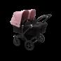 Paketti Bugaboo Donkey3 Twin kaksostenvaunu Black - Soft Pink / Black runko Bugaboo - 1