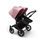 Paketti Bugaboo Donkey3 Twin kaksostenvaunu Black - Soft Pink / Black runko Bugaboo - 2