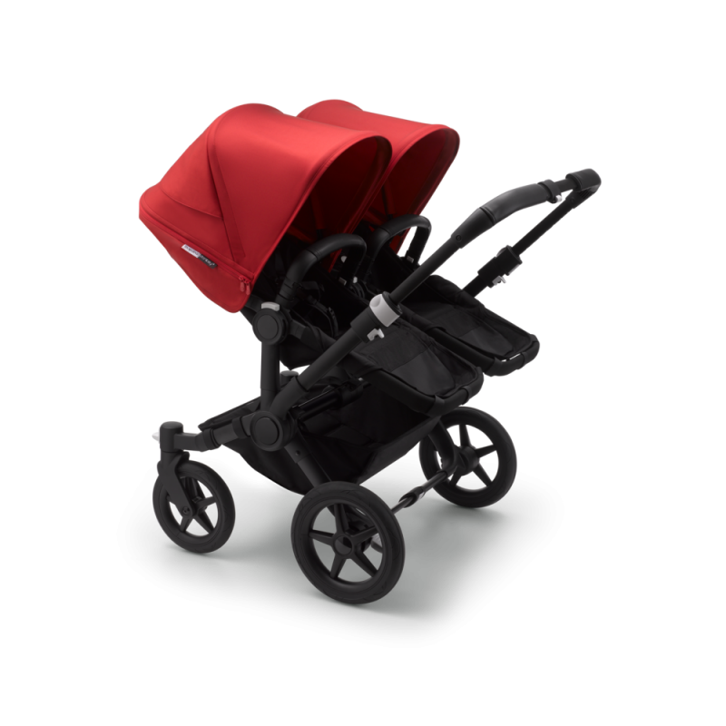 Paketti Bugaboo Donkey3 Twin kaksostenvaunu Black - Red / Black runko Bugaboo - 2