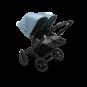 Paketti Bugaboo Donkey3 Twin kaksostenvaunu Grey Melange - Vapor Blue / Black runko Bugaboo - 2