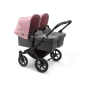 Paketti Bugaboo Donkey3 Twin kaksostenvaunu Grey Melange - Soft Pink / Black runko Bugaboo - 1