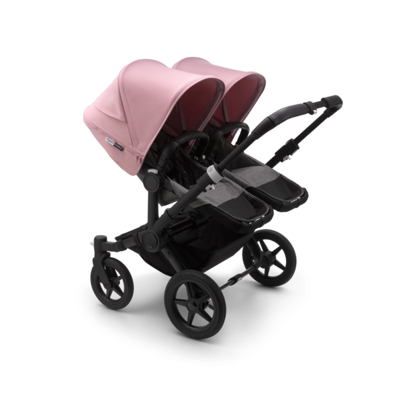 Paketti Bugaboo Donkey3 Twin kaksostenvaunu Grey Melange - Soft Pink / Black runko Bugaboo - 2