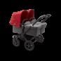 Paketti Bugaboo Donkey3 Twin kaksostenvaunu Grey Melange - Red / Black runko Bugaboo - 1