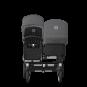 Paketti Bugaboo Donkey3 Duo sisarusrattaat Black - Grey Melange/ Alu runko Bugaboo - 2