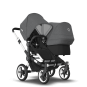 Paketti Bugaboo Donkey3 Duo sisarusrattaat Black - Grey Melange/ Alu runko Bugaboo - 3