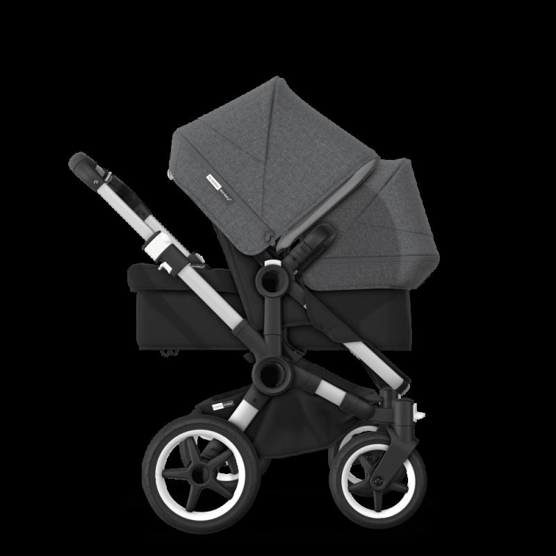 Paketti Bugaboo Donkey3 Duo sisarusrattaat Black - Grey Melange/ Alu runko Bugaboo - 4