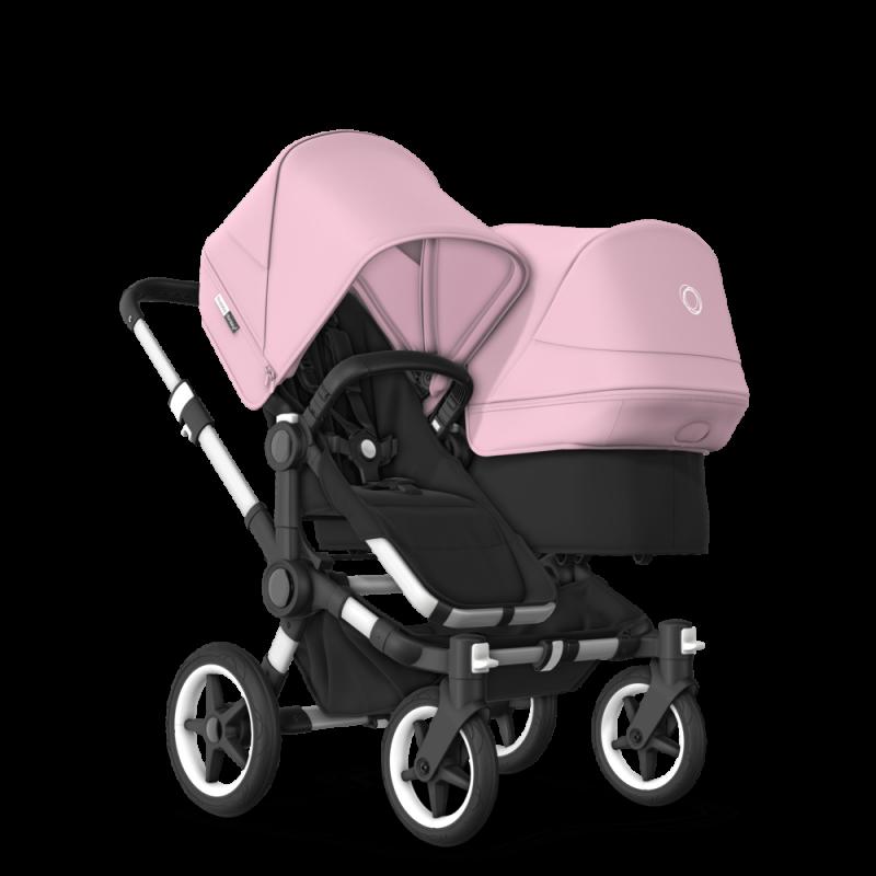 Paketti Bugaboo Donkey3 Duo sisarusrattaat Black - Soft Pink / Alu runko Bugaboo - 2