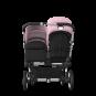 Paketti Bugaboo Donkey3 Duo sisarusrattaat Black - Soft Pink / Alu runko Bugaboo - 3