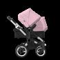 Paketti Bugaboo Donkey3 Duo sisarusrattaat Black - Soft Pink / Alu runko Bugaboo - 4