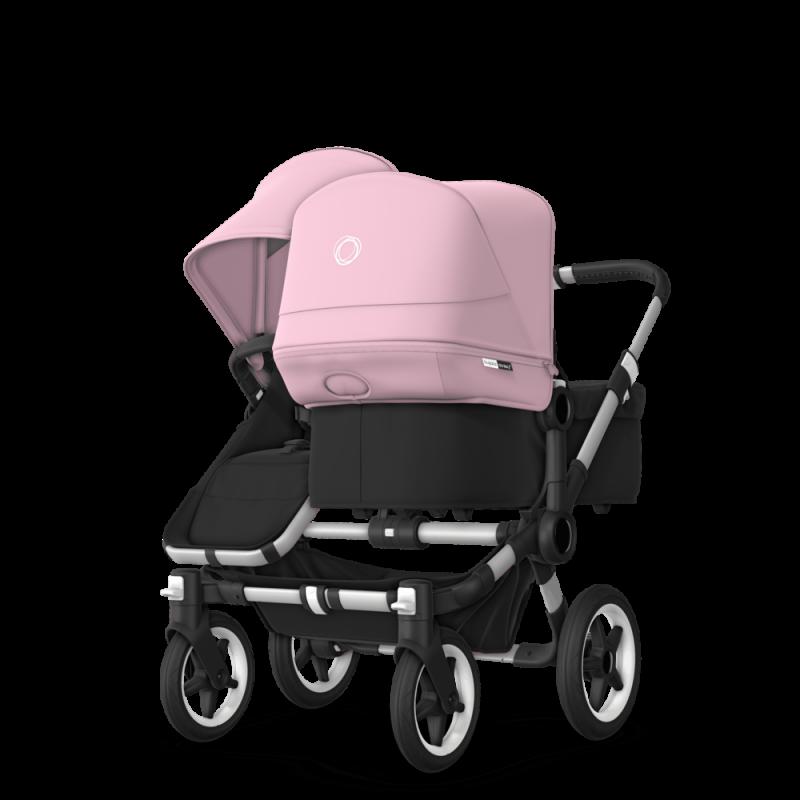 Paketti Bugaboo Donkey3 Duo sisarusrattaat Black - Soft Pink / Alu runko Bugaboo - 5