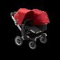 Paketti Bugaboo Donkey3 Duo sisarusrattaat Black - Red / Alu runko Bugaboo - 1
