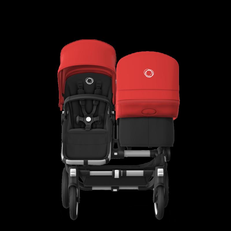 Paketti Bugaboo Donkey3 Duo sisarusrattaat Black - Red / Alu runko Bugaboo - 4